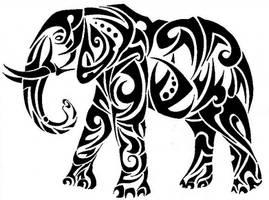 tribal elephant by RoxenaBernardi