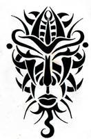 tribal mask south africa by RoxenaBernardi