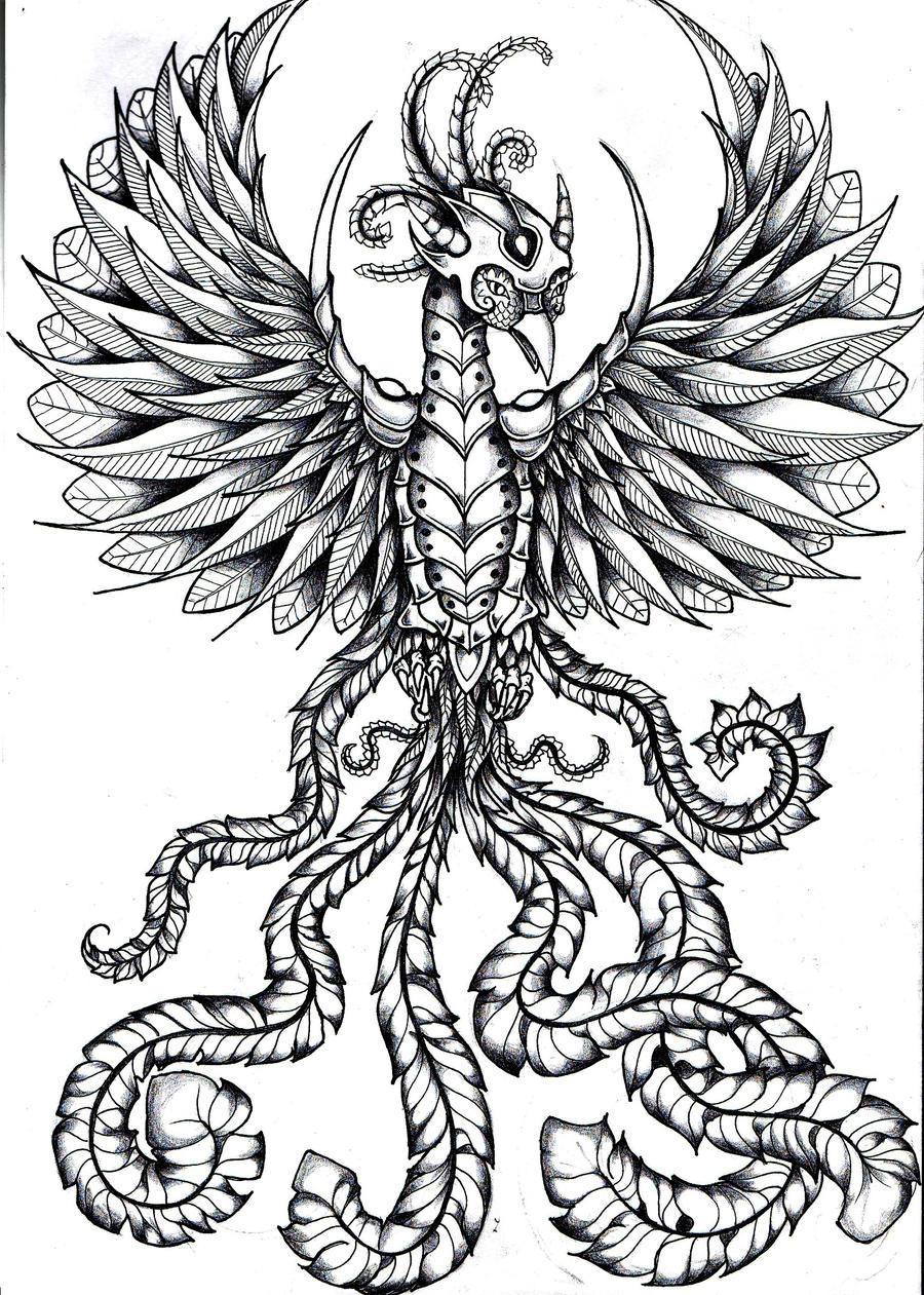 warrior phoenix bird by RoxenaBernardi on DeviantArt