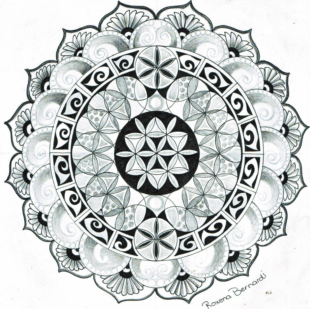 mandala Flower of life by RoxenaBernardi on DeviantArt