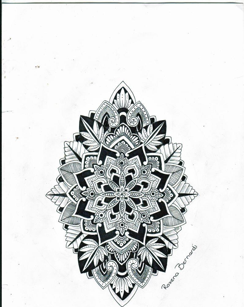 High Quality Mandala Shield Of Life Tattoo Design By RoxenaBernardi ...