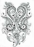 Mehndi flower design by RoxenaBernardi