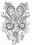 Mehndi flower design