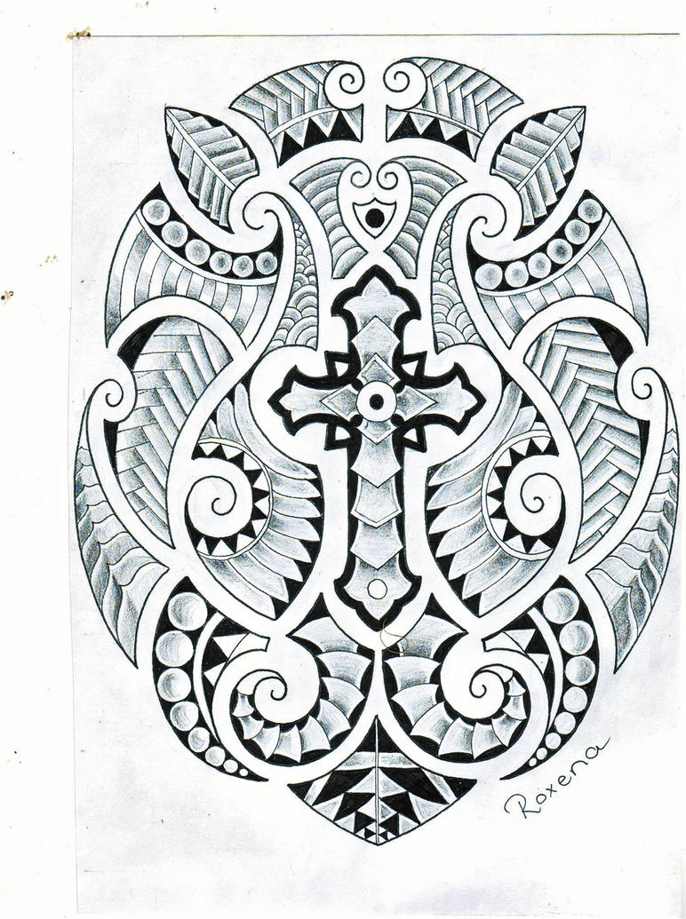 maori celtic cross by roxenabernardi on deviantart. Black Bedroom Furniture Sets. Home Design Ideas