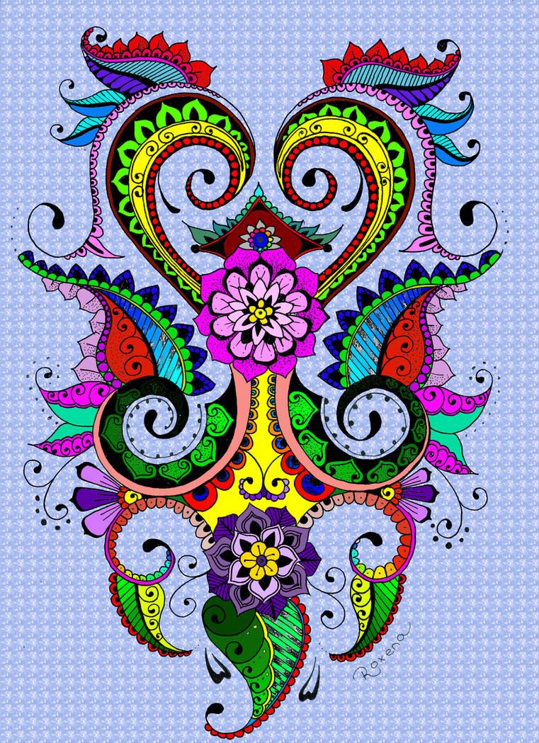 Lotus Flower Mehndi Inspired Design By Roxenabernardi On Deviantart