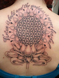 dot work flower of life sat in lotus flower by RoxenaBernardi