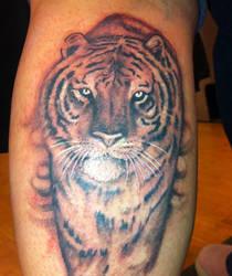 black n grey realistic tiger