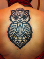 patterned owl.