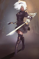 2b cosplay fanart (Shellanin) by ofou