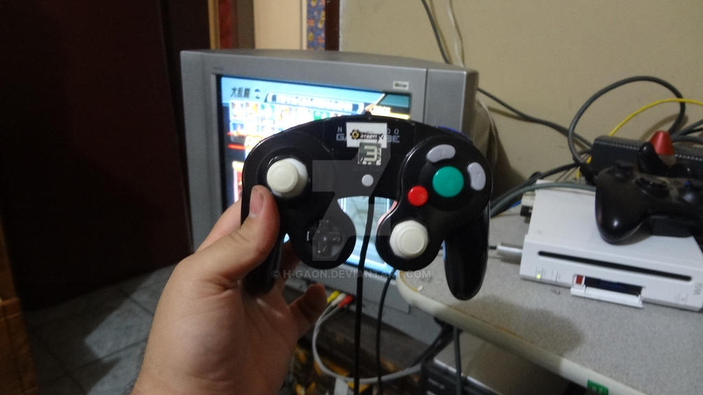 Group of Nintendo Gamecube Controller Mod