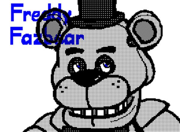 Freddy Fazbear - Flipnote Studio drawing by MsChapstick on