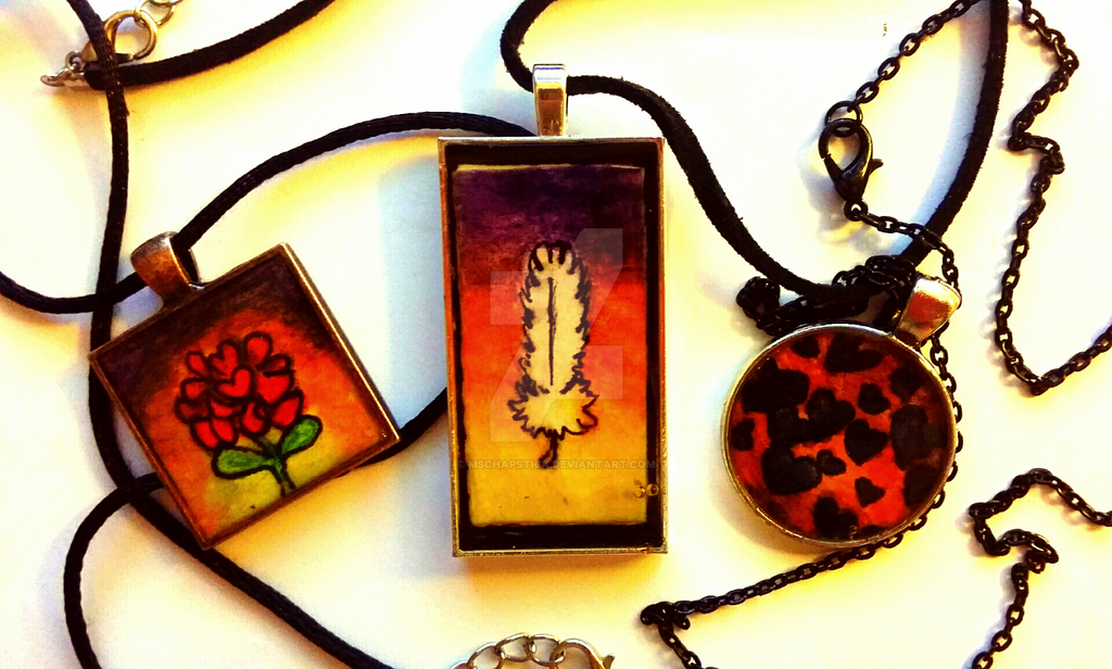Watercolor Pencil Necklace Pendants by MsChapstick