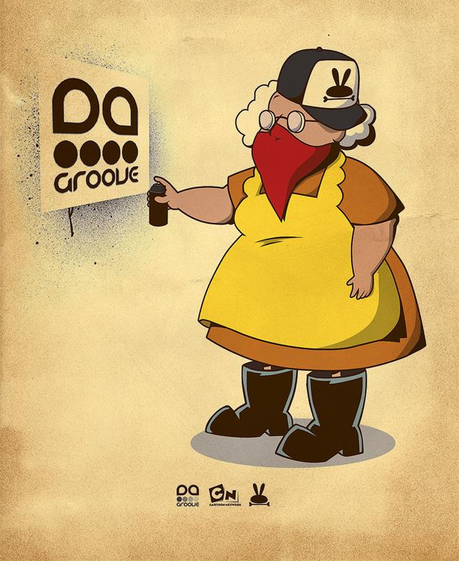 Muriel Goes Gangsta by daskull