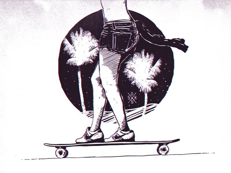 Longboard girl by daskull