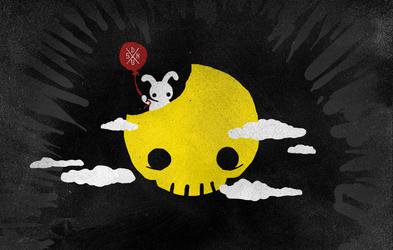 Skull Moon by daskull