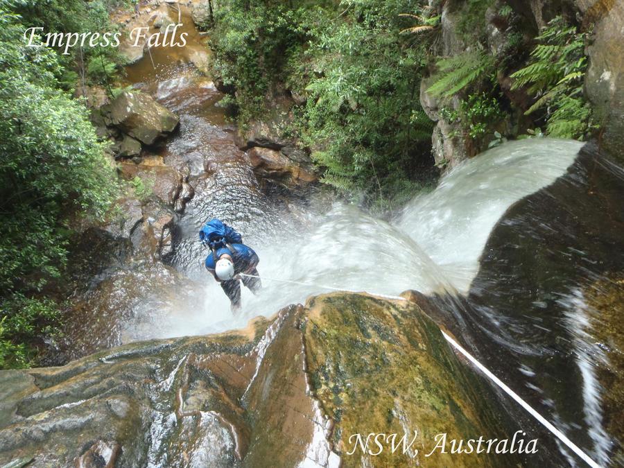 Abseiling Empress Falls by Weatbix