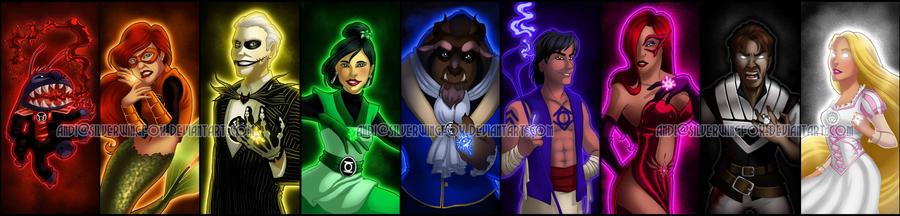 Disney Lantern Corps by Silverwingfox