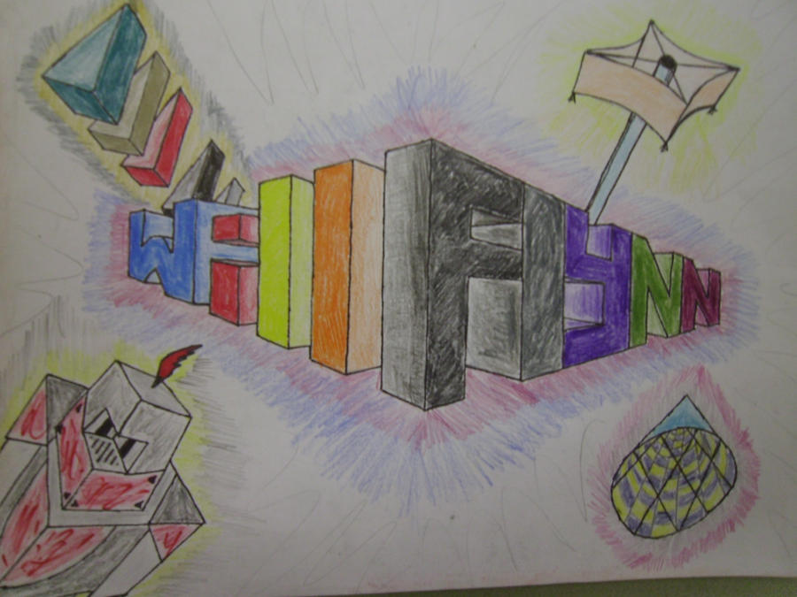 perspective name drawing by mello-Will