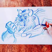 Beast sketch by lilyrjensen