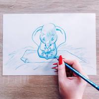 Dumbo doodle by lilyrjensen