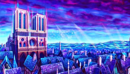 Dans le ciel de Notre-Dame by lilyrjensen