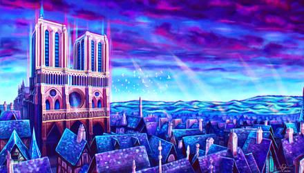 Dans le ciel de Notre-Dame