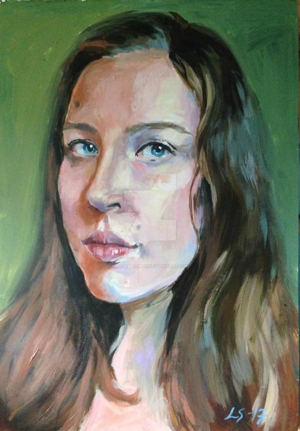 Self-portrait by Lauralionne