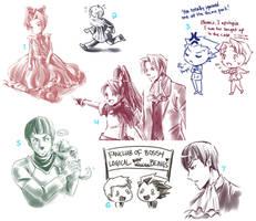 Misc Doodle Dump 02 by CanneDeBonbon
