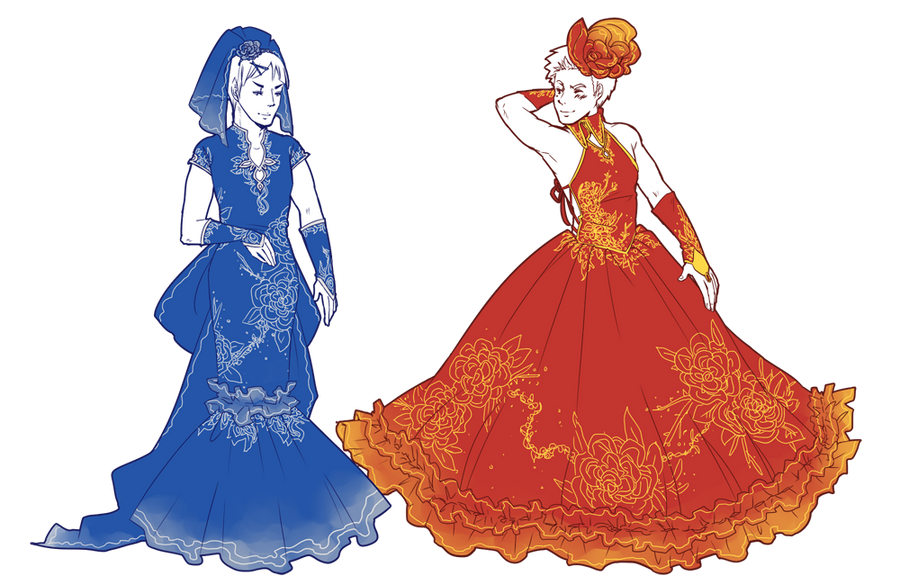 ST: Wedding Dresses by CanneDeBonbon