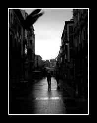 A street in Leon - Spain by puyol