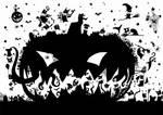 Monsters around the pumpkin by Trelela