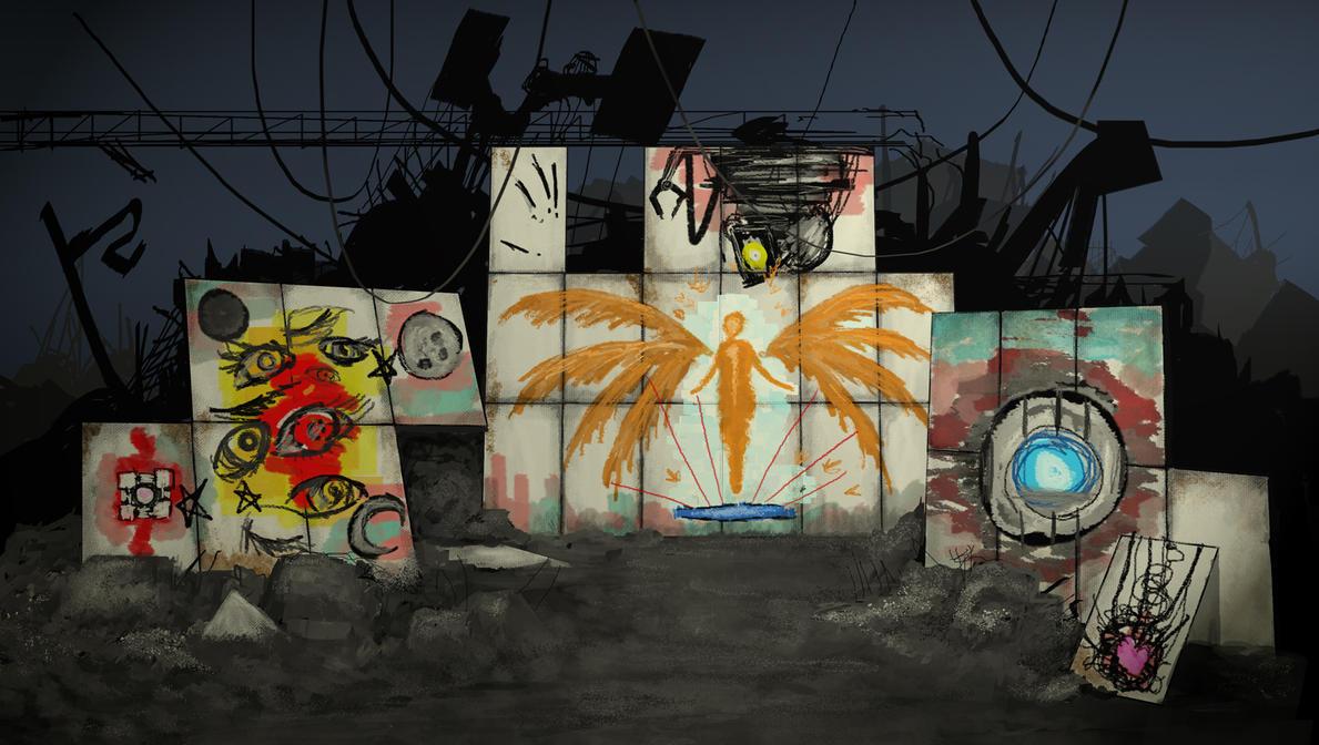 Portal 2 - Triptych by Trelela