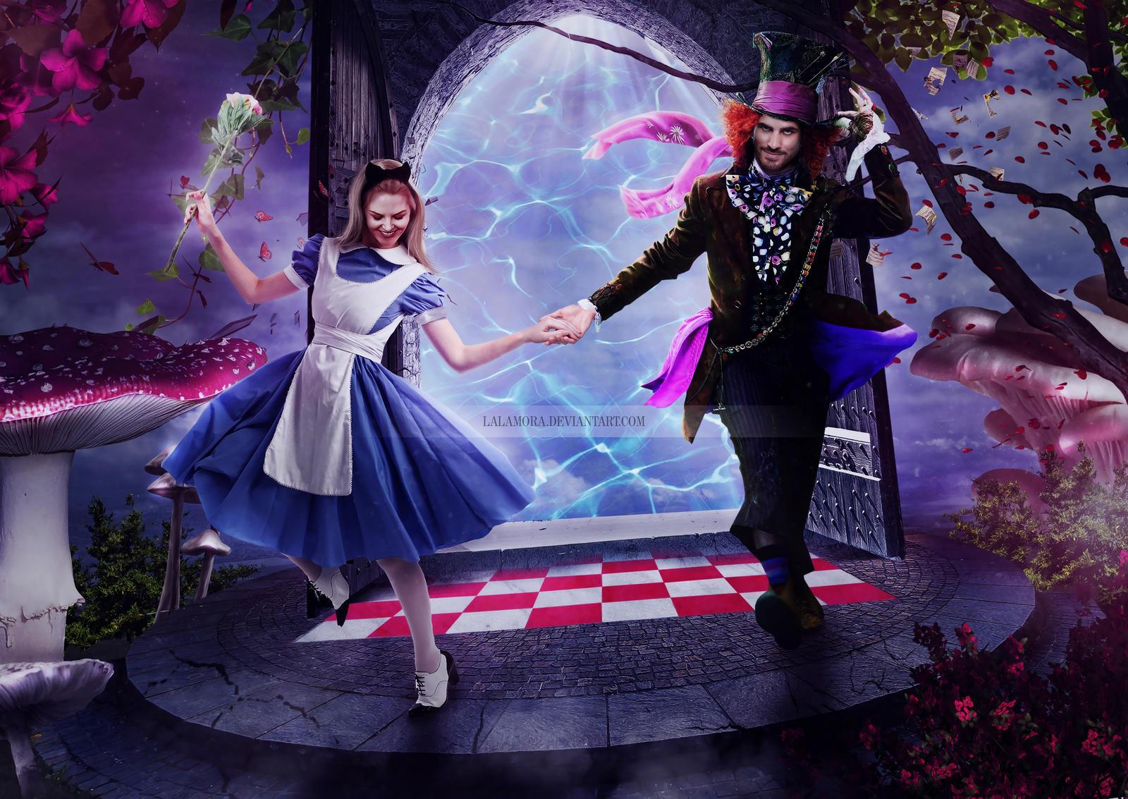 Emma Swan and Killian Jones in Wonderland by LaLaMora on DeviantArt