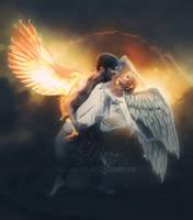Firebird and Swan by LaLaMora
