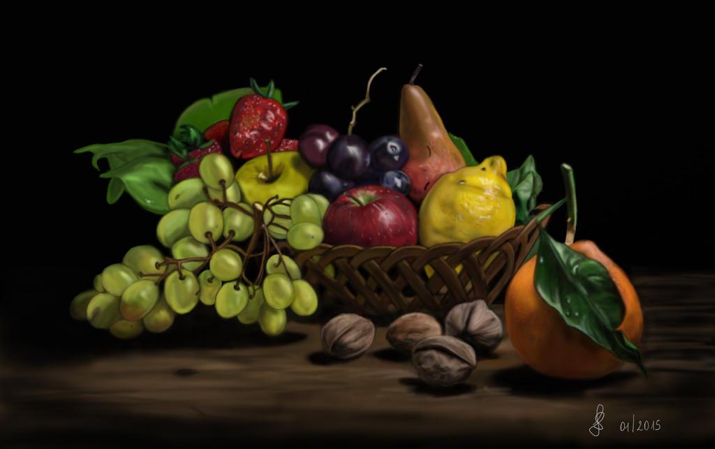 Cesto di frutta fruit basket by saryetta86 on deviantart for Cesto di frutta disegno