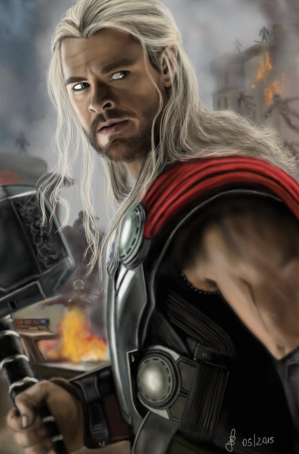 Thor - Avengers: Age of Ultron by Saryetta86
