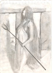 Sorceress at stone henge