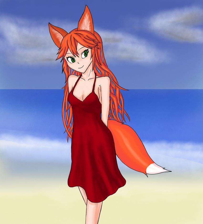 Beach Foxy by Shadow-wire