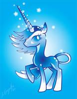 The Crystal Unicorn - MLP Style by JordanGreywolf