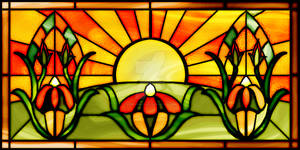 Sunrise Stained Glass Window