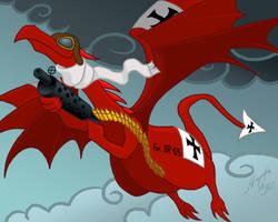 Red Baron Dragon by JordanGreywolf