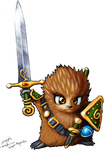 Echidnox, Woodland Champion of Justice (and Caeke)
