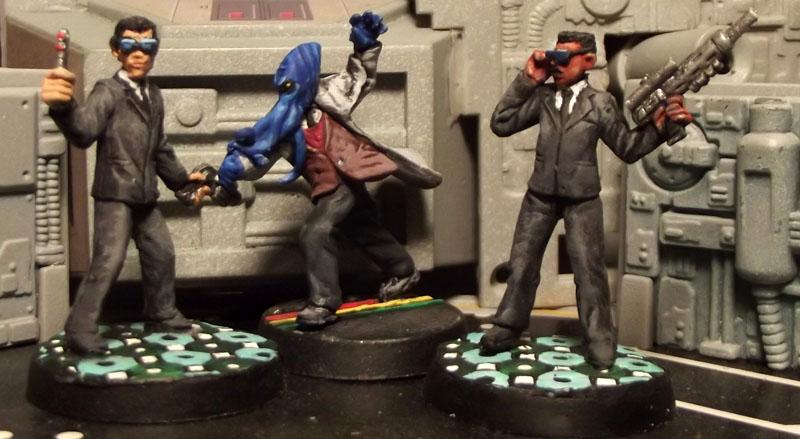 Men in Black - Game Miniatures by JordanGreywolf