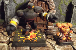 Warcraft Earth Elementals by JordanGreywolf