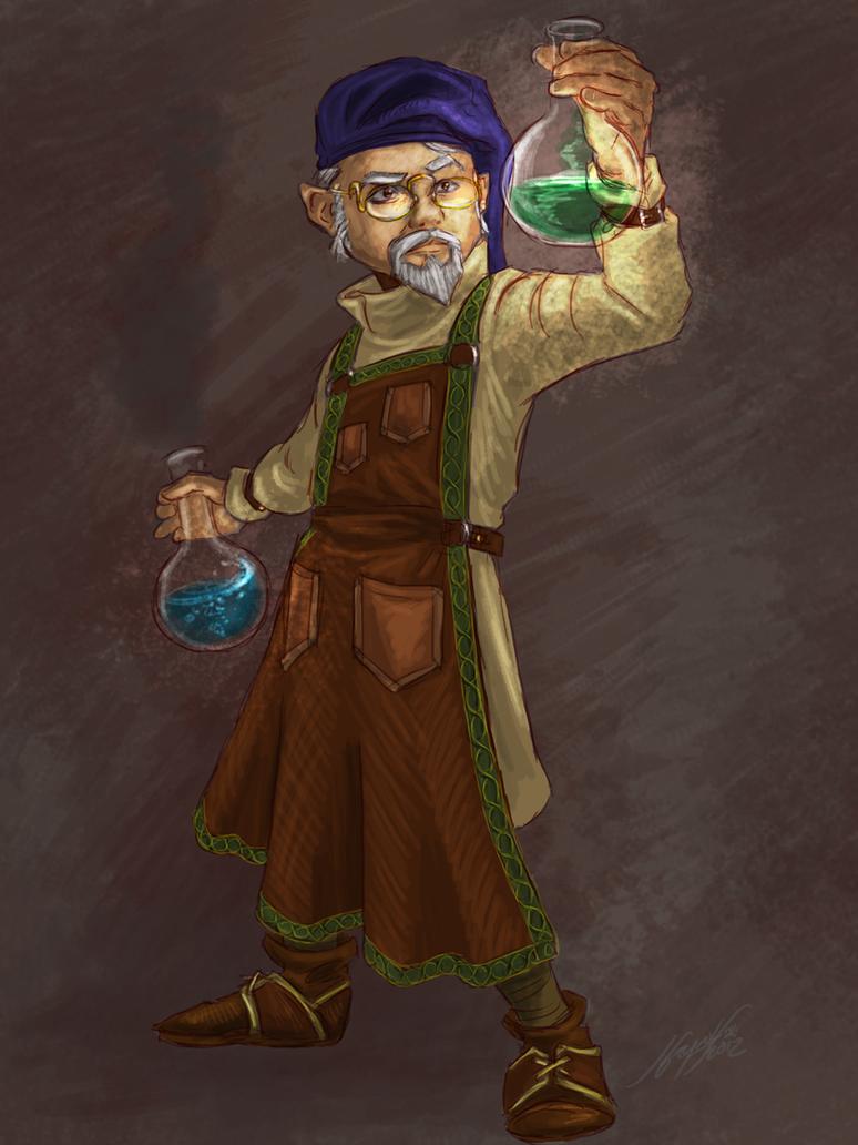 Gnome Alchemist by JordanGreywolf