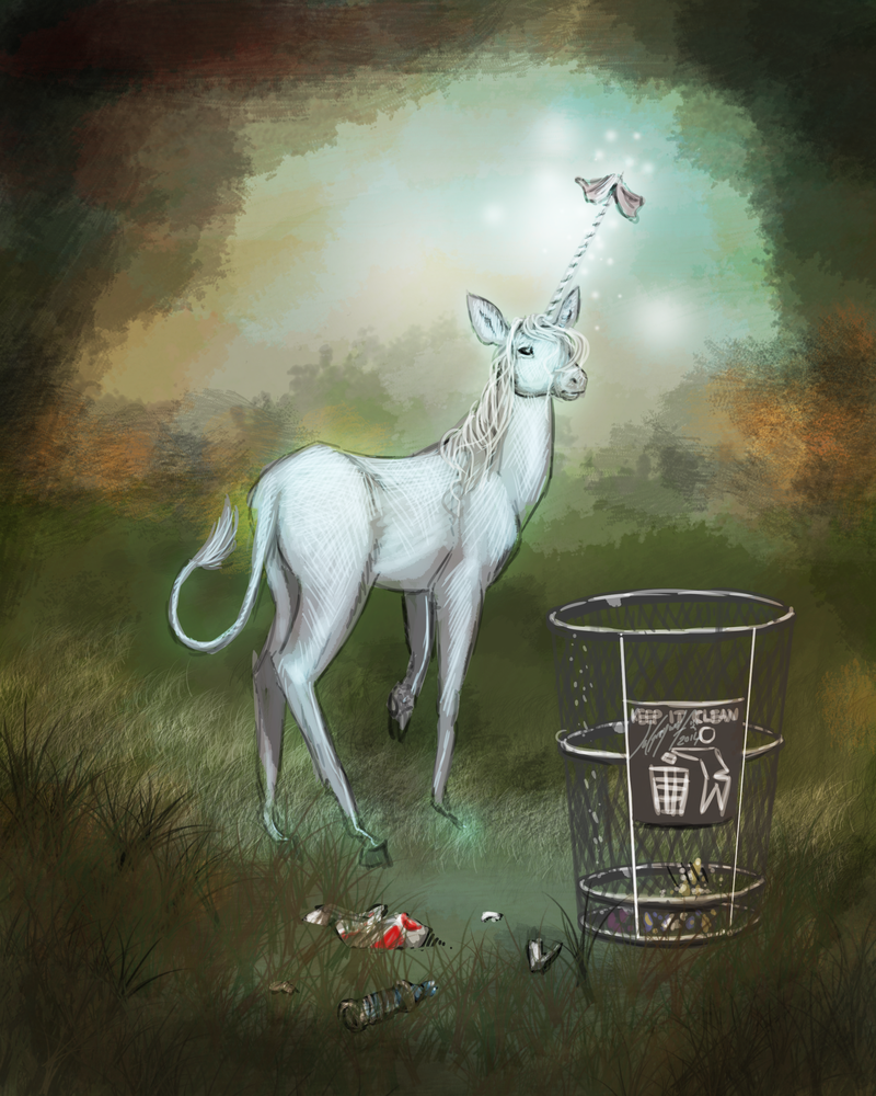 The Unicorn in North Sandalwood Park by JordanGreywolf