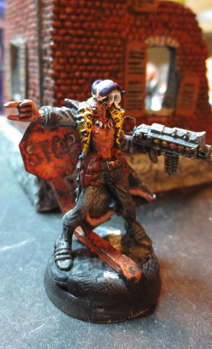 Damien, Post-Apocalyptic Mutant Ganger (conversion by JordanGreywolf