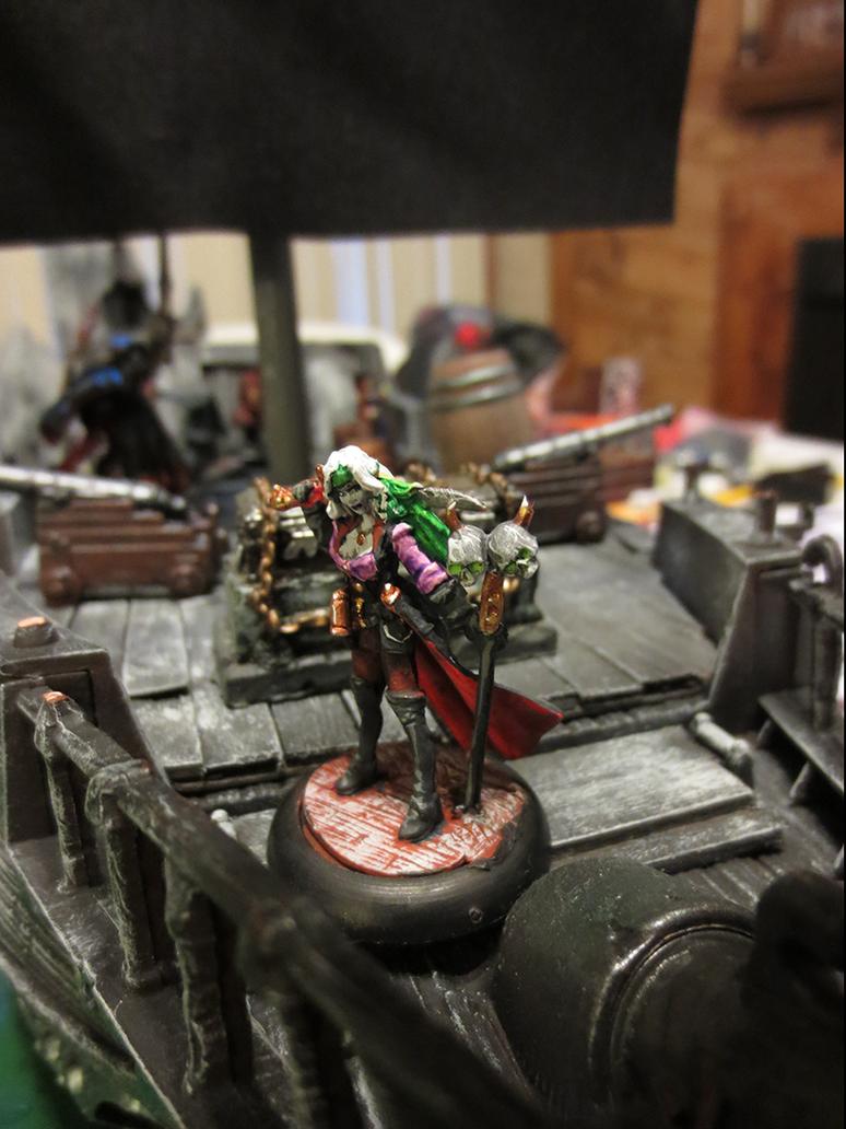 Finaela, Female Pirate (Reaper Bones Conversion) by JordanGreywolf