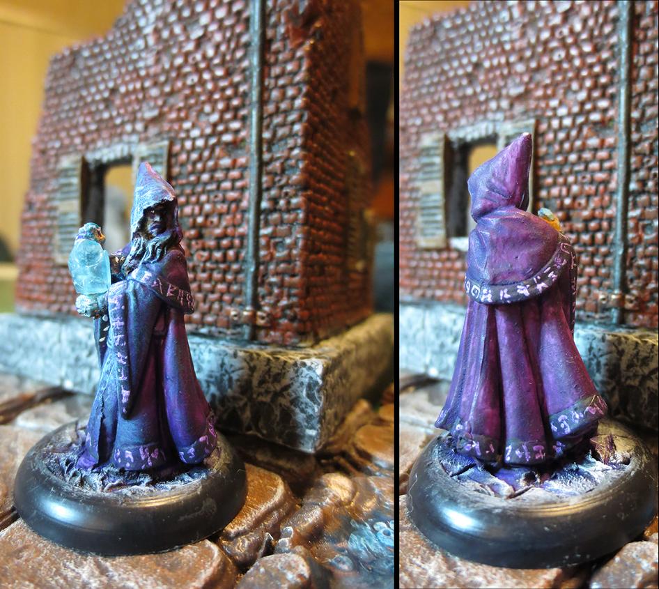 Anirion, Wood Elf Wizard (conversion) by JordanGreywolf