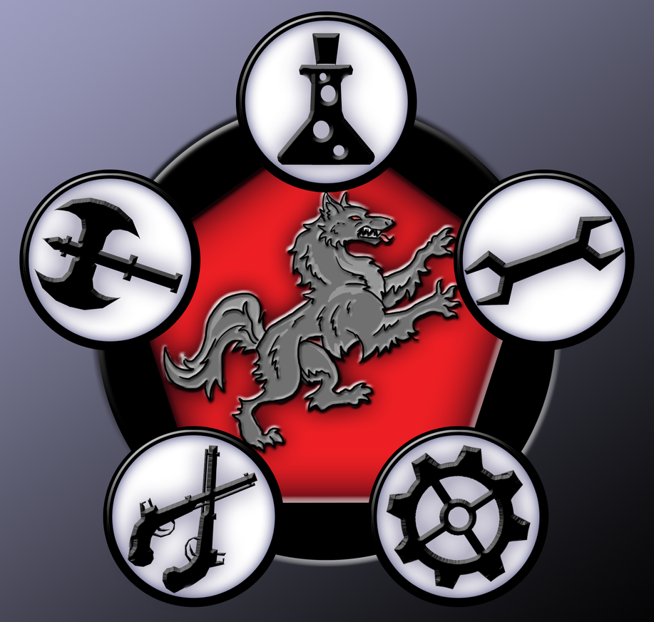 Iron Kingdoms Mercenary Company Badge by JordanGreywolf
